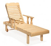 #801A Chaise Lounge Wood with Arms