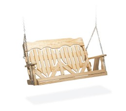 #412 High Back Heart Swing - Wooden Swings