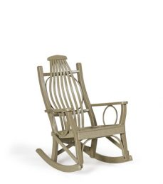 #83 Poly Hickory Rocker - Poly Porch Rocker