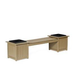 #950 Planter Bench - Poly Planters and Trash Receptacles