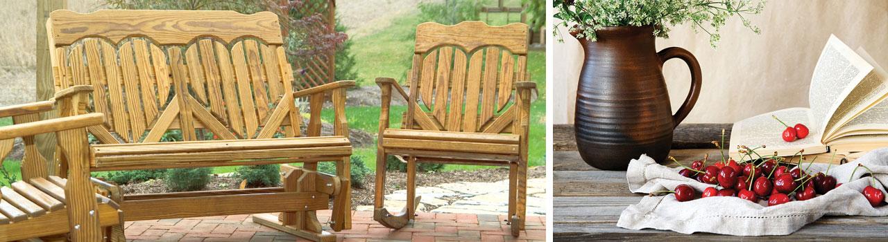 High Back Heart Wood Furniture