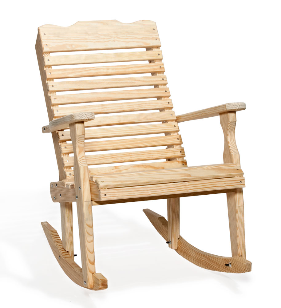 #301 Curve Back Rocker - Wooden Chairs and Rockers