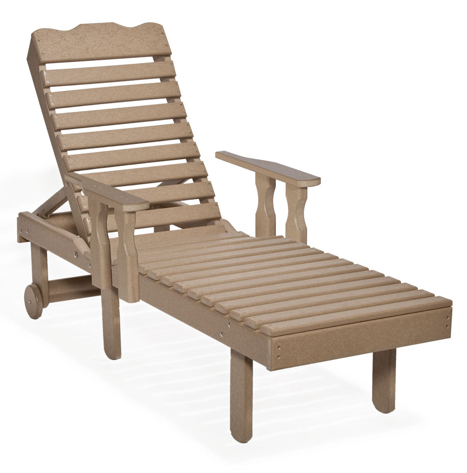#801A Chaise Lounge with Arms - Poly Chaise Lounges