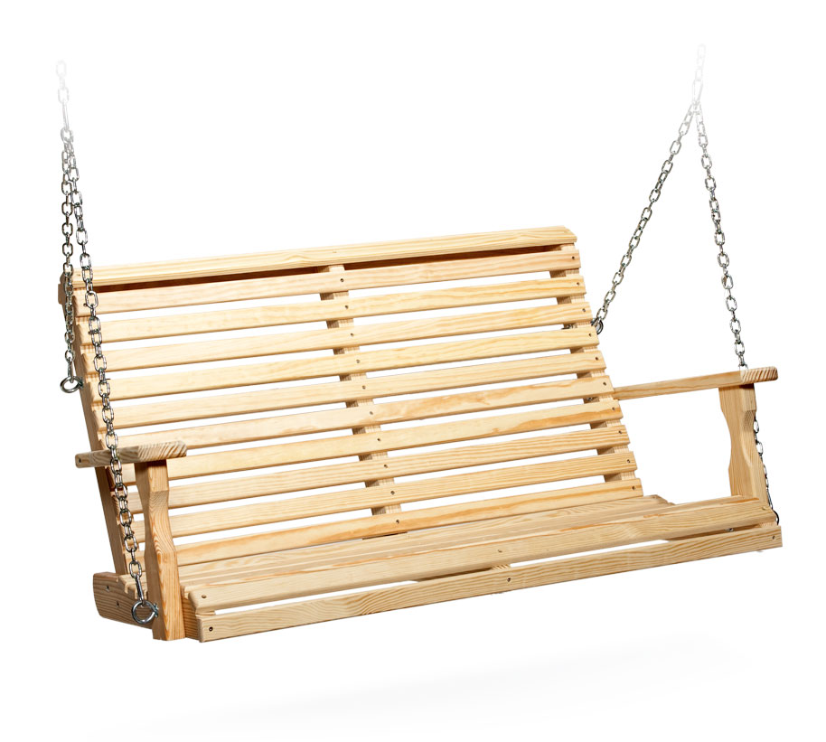#415 4' Roll Back Swing - Wooden Swings
