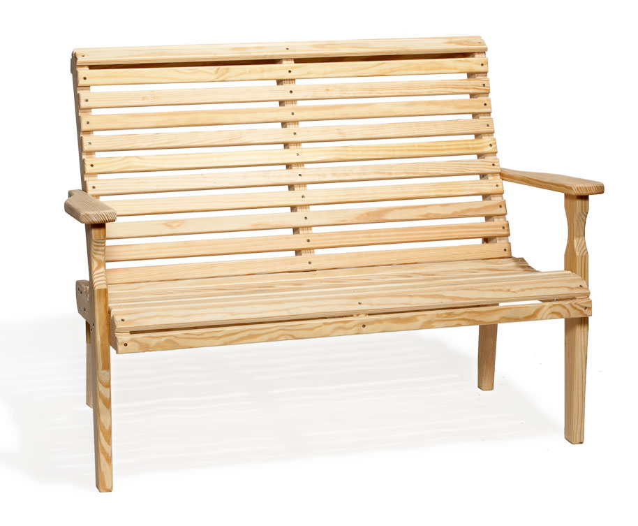 #425 4' Roll Back Bench