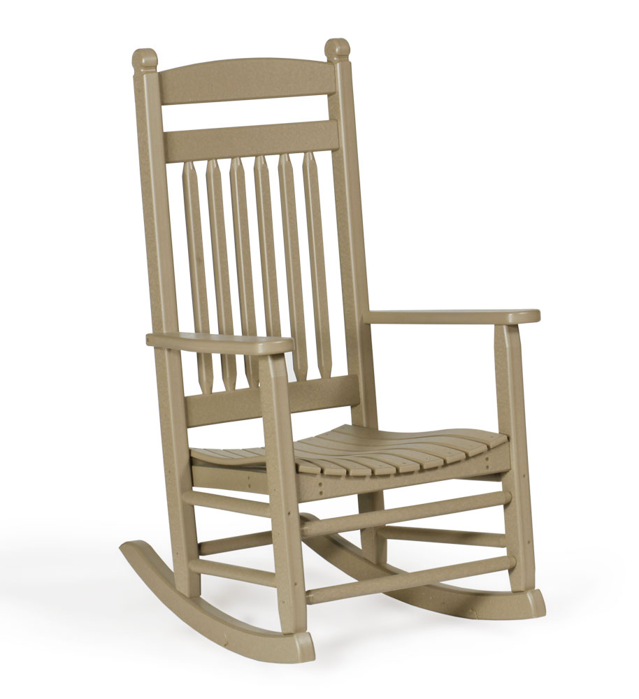 #84 Poly Lumbar Rocker - Poly Porch Rocker