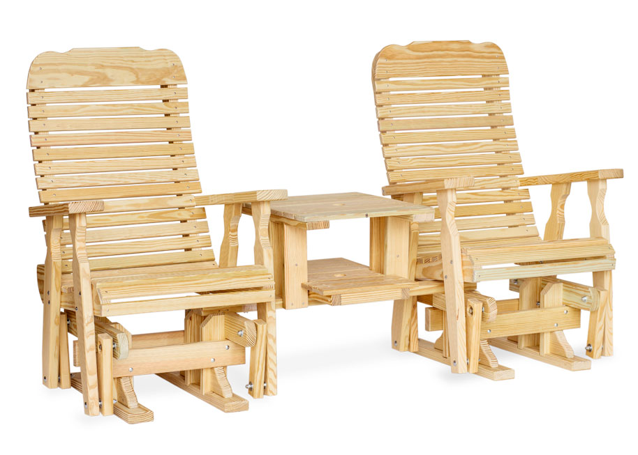 #101 Easy Double Glider Settee - Wooden Settees