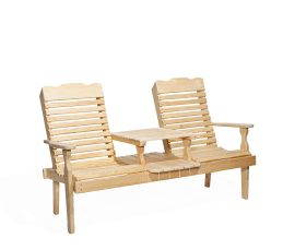 #200 Curve Back Settee - Wooden Settees