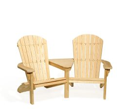 #202 Fanback Settee - Wooden Settees