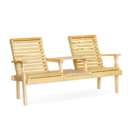 #205 Roll Back Settee Wood