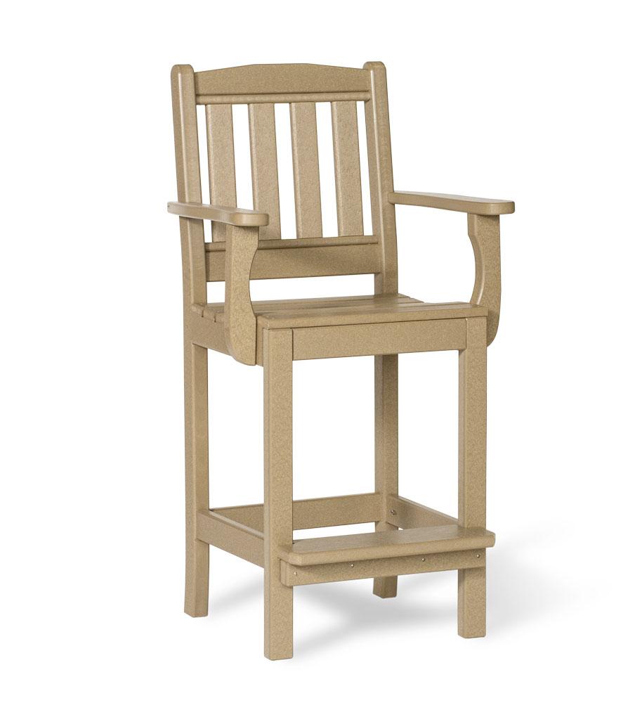 #221B Poly English Garden Arm Chair Bar Height