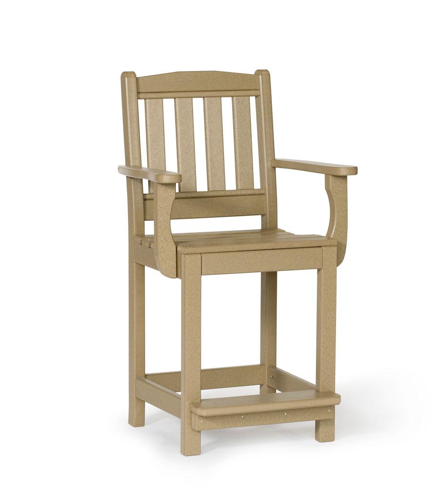 #221C Poly English Garden Arm Chair Counter Height