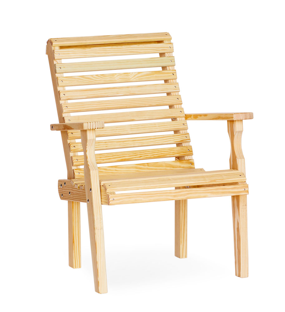 #305 Roll Back Chair Wood