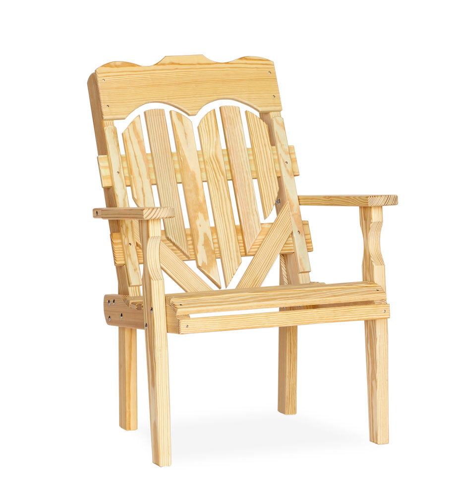 #310 High Back Heart Chair - Wooden Chairs and Rockers