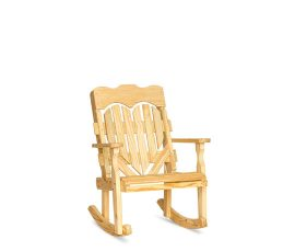 #311 High Back Heart Rocker - Wooden Chairs and Rockers