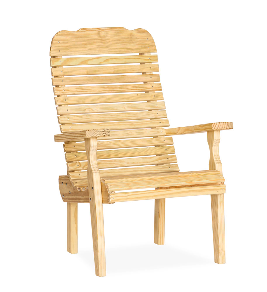 #320 Easy Chair Wood - Wooden Chairs and Rockers