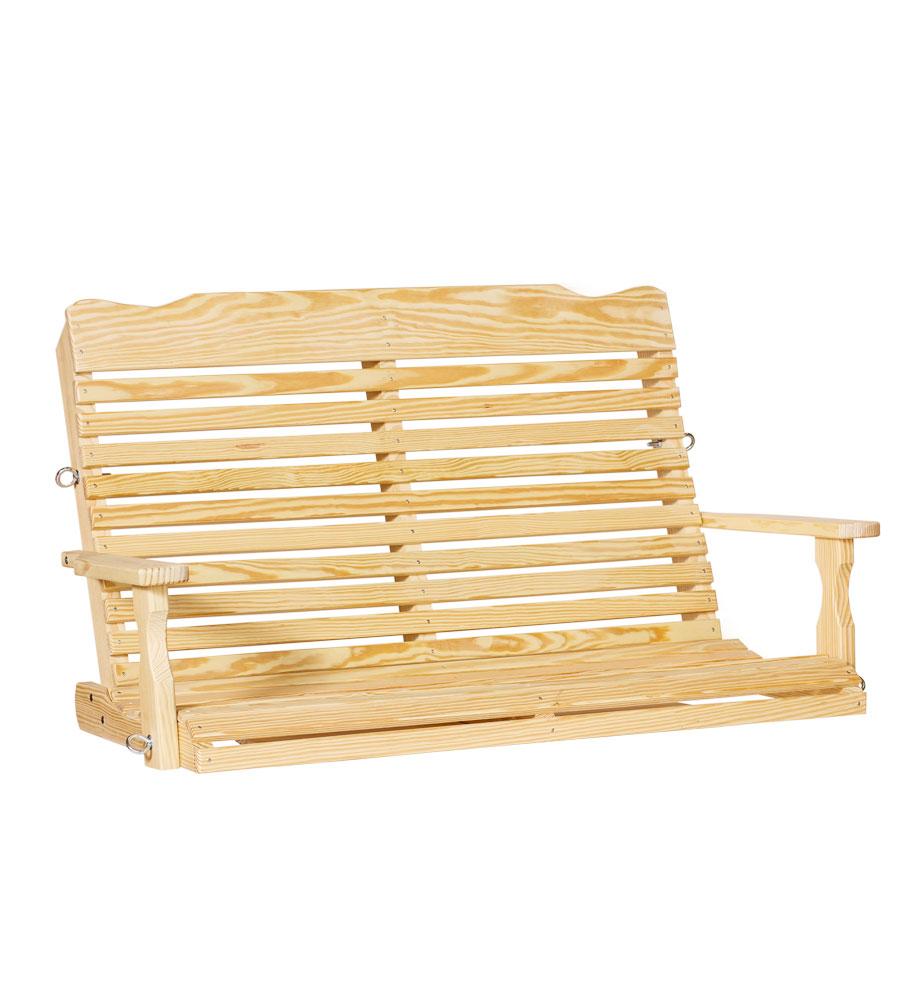 #416 4' Curve Back Swing - Wooden Swings