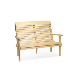 #426 4' Curve Back Bench - Wooden Benches
