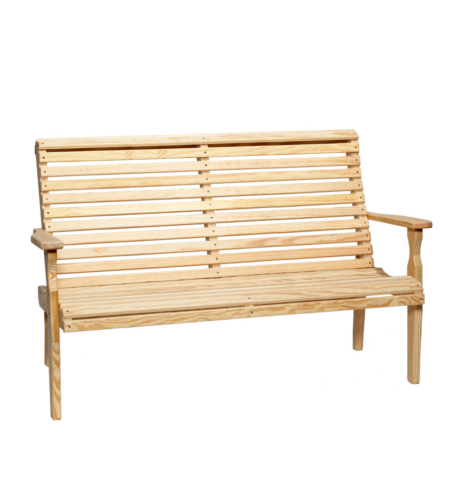 #525 5' Roll Back Bench Wood