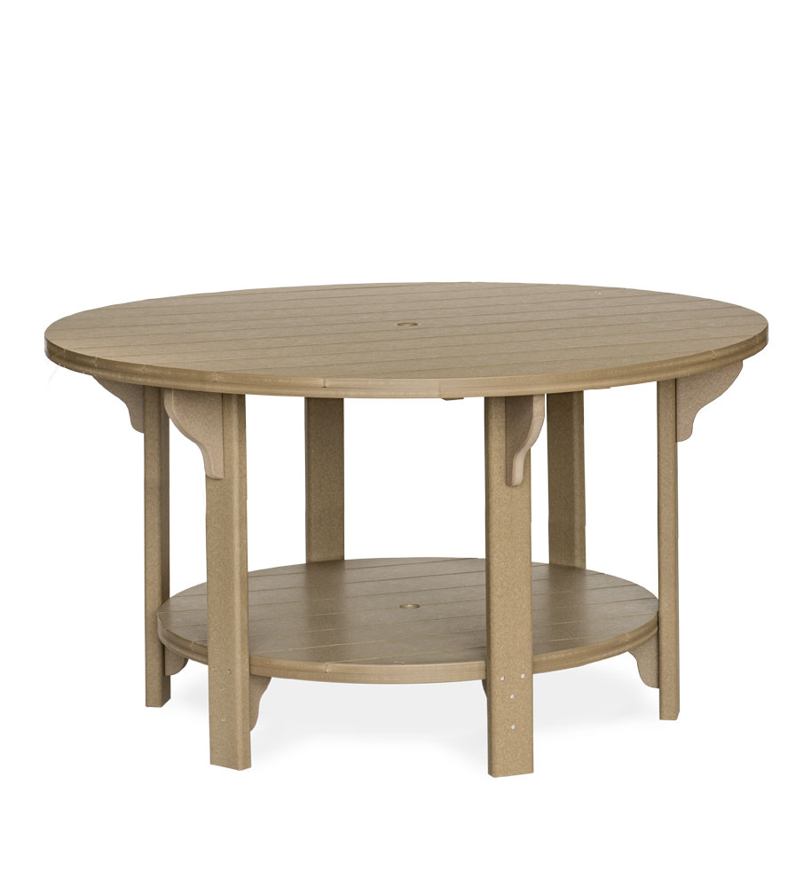 #760C Poly 60in Round Table Counter Height