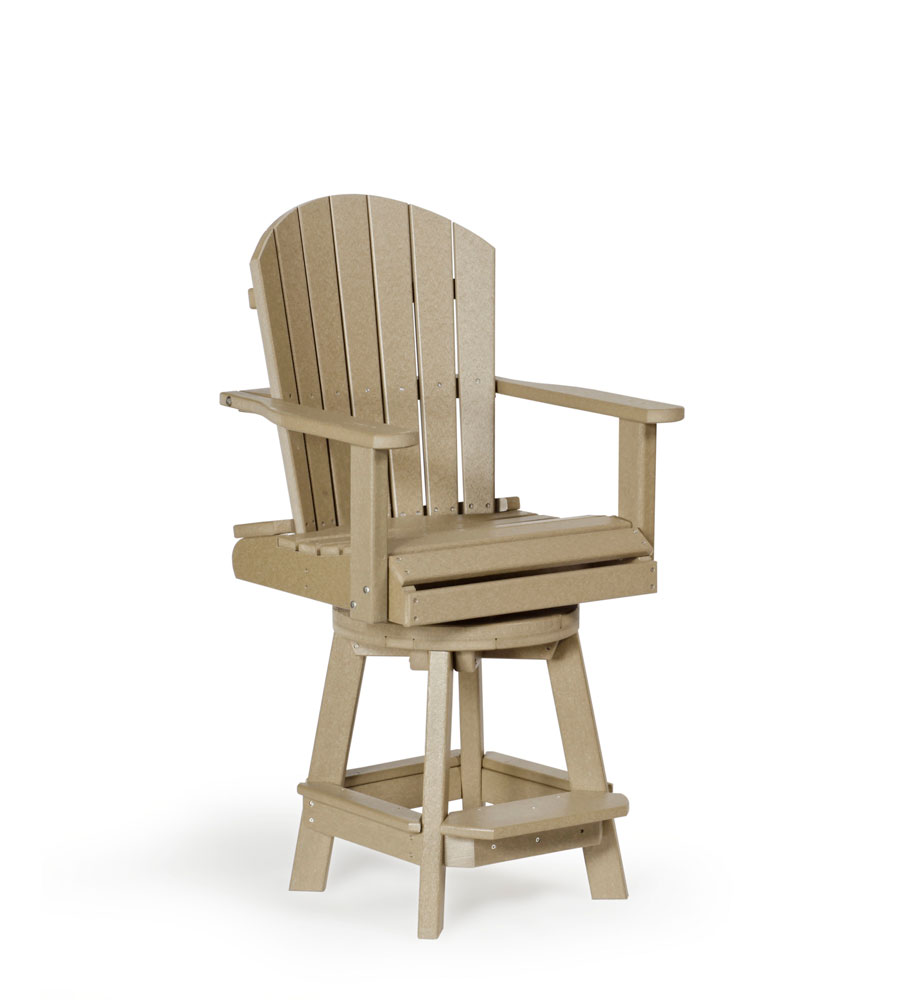 #79B Poly Swivel Balcony Chair Bar Height