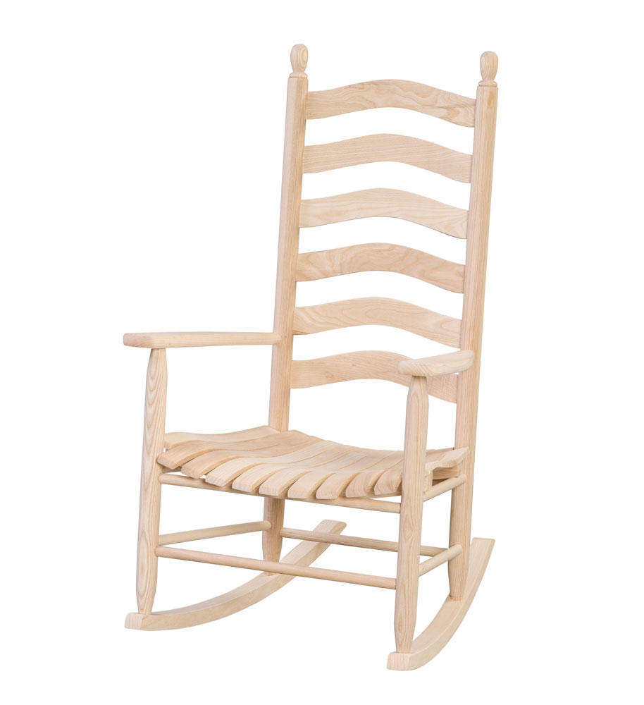 #90 Ladder Back Rocker - Wooden Chairs and Rockers