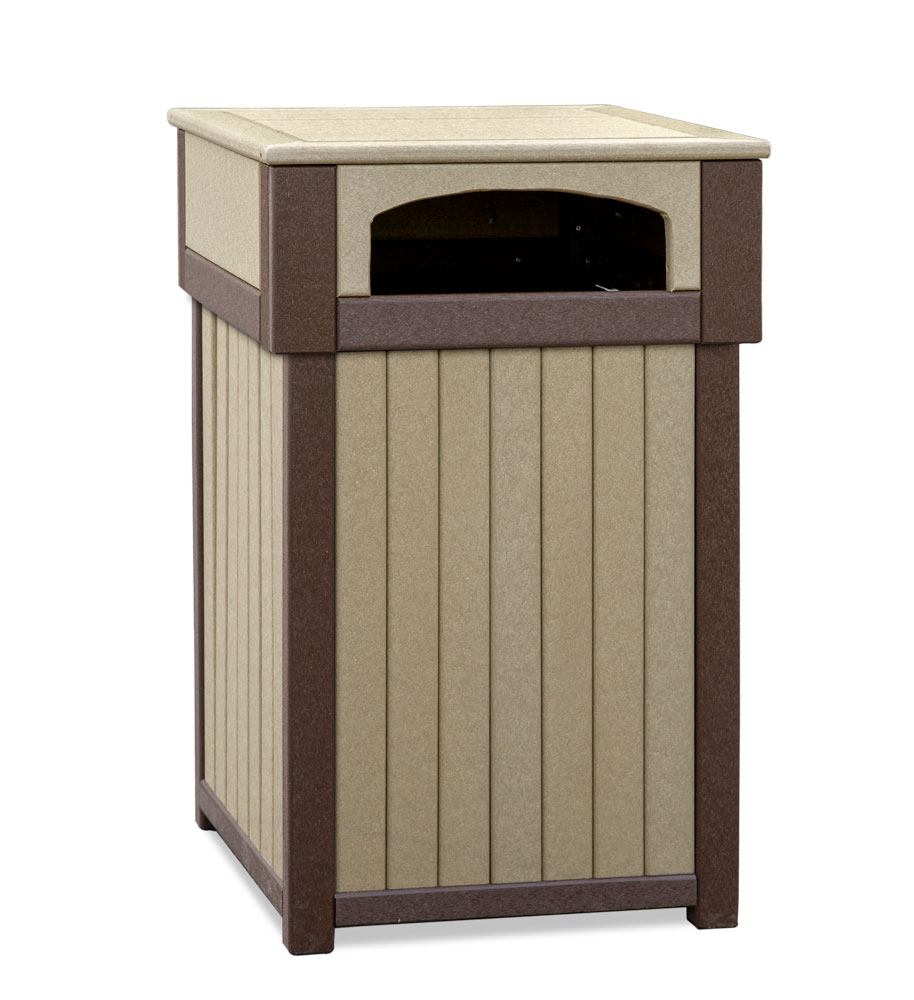 #931 Poly Trash Receptacle - Poly Planters and Trash Receptacles
