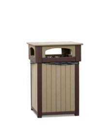 #934 Poly Trash Receptacle - Poly Planters and Trash Receptacles